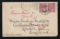 Canada 1907 KEVII Cover MONTREAL to LONDON REDIRECTED to BROWN'S HOTEL