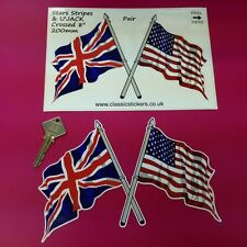 US Stars & Stripes UK Union Jack Flag 8 in Car stickers