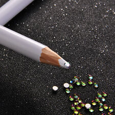 2Pcs Rhinestones Picker Pencil Tool Adhesive Pen Nail Art Gems Crystals Diamonds