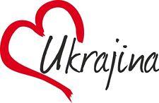 "AUTO Adesivo ""Ukrajina"" Sticker Ucraina circa 9x14cm contorno tagliati"