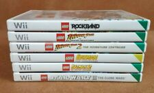 Joblot Bundle of Nintendo Wii Lego Games 6 Batman 1 & 2 Star Wars, Indiana Jones