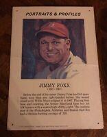 "JIMMY FOXX 1970 Portraits & Profiles Display Cards FORTE 13 1/2 "" X 19 1/2"""