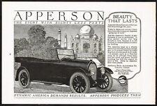 1920 Original Vintage Apperson Eight Motor Car Art Print Ad