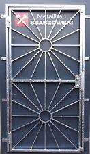 Gittertür Feuerverzinkt Einbruchschutz auf Maß - Modell Sonne