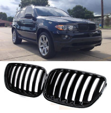 BMW X5 E53 03-06 M performance gloss black front kidney grilles grille grills UK
