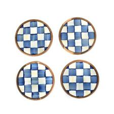 New ListingMacKenzie-Childs Royal Check Coasters - Set of 4