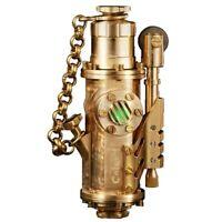 Vintage Handemade Lighter Brass Florescent Light Oil Steampunk Retro 140g