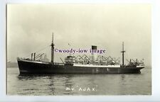 c3082 - Blue Funnel Cargo Ship - Ajax - photograph