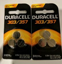 Duracell 357 303 - SR44SW Silver Oxide Button Cell Batteries 6 Pack USA SELLER
