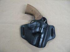 """EAA Windicator 2"""" Revolver 6 Shot Leather 2 Slot Pancake Belt Holster BLACK RH"""