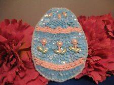 EASTER EGG SEQUIN BEADED PEARLED APPLIQUE 2332-K
