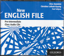 OXFORD NEW ENGLISH FILE Pre-Intermediate Class Audio CDs @NEW & SEALED@