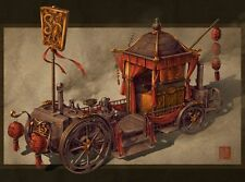 Bridal Carriage Chinese Steampunk Print by James Ng