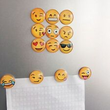 5 Pcs Cute Emoji Fridge Magic Magnet Home Decoration Glass Cabochon Sticker
