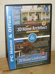 3D Home Architect Deluxe 5.0 Software w/User Guide and Box - MINT!