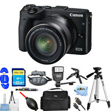 Canon EOS M3 Mirrorless Digital Camera W/ 18-55mm Lens (Black)! PRO BUNDLE NEW!!