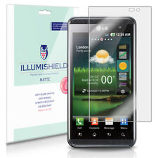iLLumiShield Matte Screen Protector w Anti-Glare/Print 3x for LG Optimus 3D