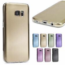 360 Grad Handy Hülle Full TPU Silikon Schutz Touch Case Tasche Cover Metalloptik