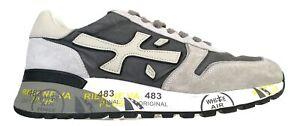 Chaussures pour Hommes PREMIATA Basket en Daim Toile et Cuir Mick _ 4952 Gris