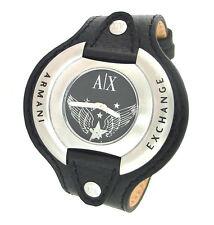 ARMANI EXCHANGE AX1004 BLACK LEATHER CUFF WATCH