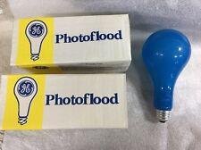 GE EBW No.2 500 Watt Photoflood Photography Light Bulb 10500lm 4800K 2-pcs