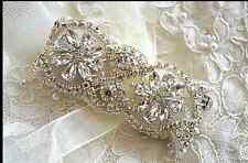 CUFF Vintage Crystal Rhinestone Pearl Bridal Bracelet Jewellery