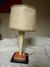 VINTAGE RETRO LAMPE DE TABLE OU BUREAU A POSER EN FORMICA ROUGE ET VERT