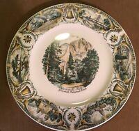 Vintage Collector's Plate Imperial Salem YOSEMITE FALLS YOSEMITE NATIONAL PARK