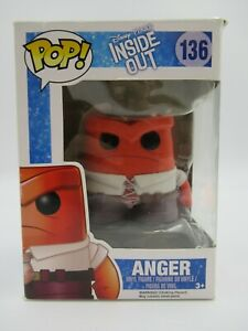 Funko POP Vinyl Disney Pixar Inside Out Anger Figure #136 Boxed [1360]