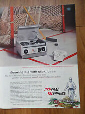 1959 General Telephone Electronics Ad Phone Answering Unit