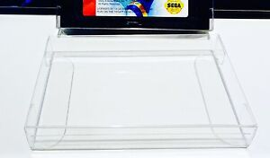 25 SEGA GENESIS / MASTER / MEGADRIVE Cartridge Protectors Clear Custom Made Box