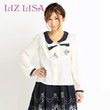 Genuine Liz Lisa Embroidery collar Blouse with Bow-tie Brand New With Tag