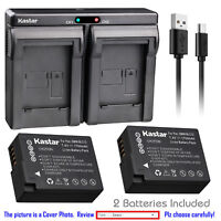 Kastar Battery Dual Charger for Panasonic DMW-BLC12 & Panasonic Lumix DMC-FZ1000