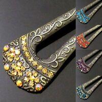 ADD'L Item FREE Shipping - Austrian Rhinestone Crystal Antiqued Hair Fork