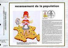 DOCUMENT CEF PREMIER JOUR  1982  TIMBRE N° 2202 RECENSEMENT DE LA POPULATION