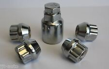 M12 X 1.5 OPEN END LOCKING ALLOY WHEEL LOCK NUTS FIT OPEL ASTRA J