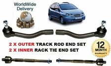 FOR CHEVROLET TACUMA 2000->NEW 2x OUTER & 2x INNER TRACK TIE RACK ROD END SET