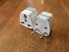 2 x Travel plug adapter EU to UK & UK to EU