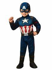Marvel Avengers Toddler Boys Captain America Muscle Halloween Costume Size 2T-3T