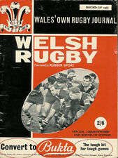 Galés Rugby revista redondear 1966, girlings, Tredegar, BP llandarcy