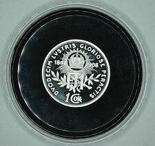 Hongrie 1 CORONA 1908 REPLICA Médaille Plaqué Argent SILVER Plated - UNC / FDC