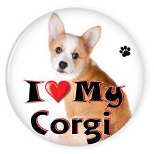 "I Love My Welsh Corgi Dog Puppy 3"" Safety Pin Back Button"