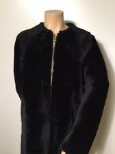 MASSIMO DUTTI ZARA GROUP LIMITED EDITION BLACK REVERSIBLE LAMBSKIN COAT 4757/612