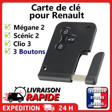 Carte de clé 3 boutons pour Renault Mégane 2 Scénic 2 Clio 3 vendeur francais