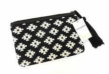 NEW LUCKY BRAND HKW0262 CLUTCH POUCH BAG BLACK & WHITE