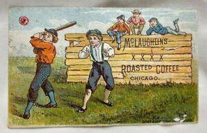 1886 McLaughlin's Coffee Baseball Game Art Trade Card Calendar