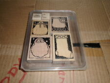 Stampin Up Holiday Woodcuts Set of 6 2003 Retired Nice Condition. Santa Snowman