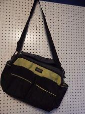 Eddie Bauer diaper bag - black / lime green