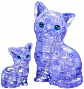 Bepuzzled Original 3D Crystal Puzzle Cat Kitten Brain Teaser Toy 49 Pcs Level 2