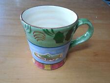 "Home Trends Bella TIMBERLINE Set of 2 Large Mugs 4"" Moose Fish Lodge Blue"